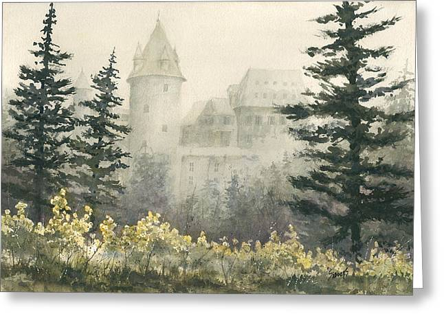 Misty Morning Greeting Card by Sam Sidders