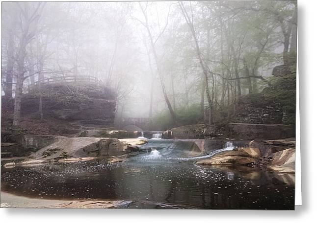Stream Digital Art Greeting Cards - Misty Morning Series  Greeting Card by Mahalograph                                        Photography