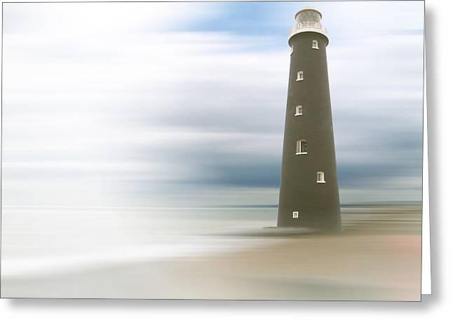Foggy Beach Greeting Cards - Misty morning Greeting Card by Sharon Lisa Clarke