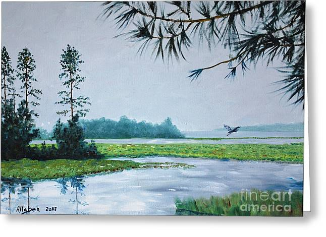 Stanton Allaben Greeting Cards - Misty Morning Greeting Card by Stanton Allaben