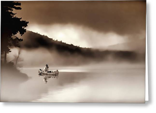 Misty Morning Greeting Card by Stephen Anthony