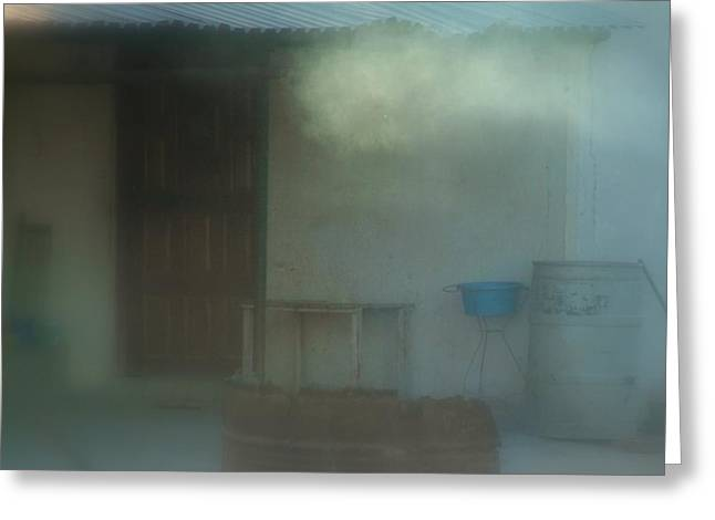 Farmlife Greeting Cards - Misty Mornings.. Greeting Card by Al  Swasey