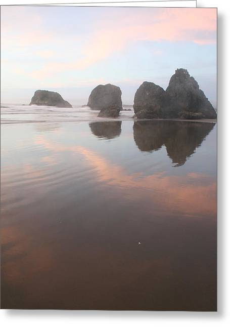 Beach Landscape Greeting Cards - Misty Reflection Greeting Card by Dylan Punke