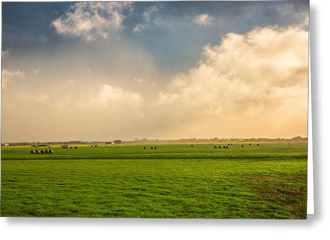 Oklahoma Landscape Greeting Cards - Misty Greeting Card by Sean Ramsey