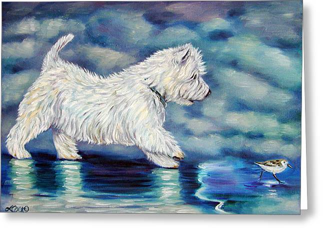 Misty - West Highland Terrier Greeting Card by Lyn Cook