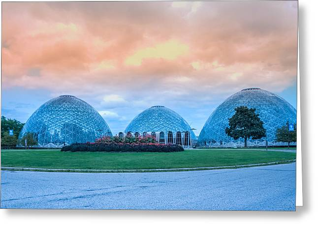 Mitchell Park Conservatory,the Domes Greeting Card by Art Spectrum