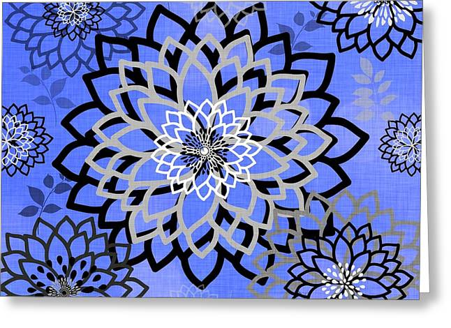 White Tapestries - Textiles Greeting Cards - Mitzi Greeting Card by Sharon Johnston