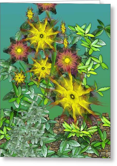 Recently Sold -  - Floral Digital Art Digital Art Greeting Cards - Mixed Flowers Greeting Card by David Lane