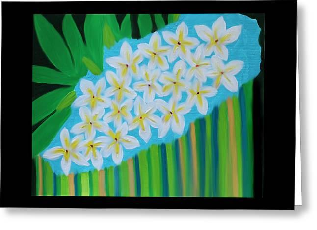 Florida Flowers Mixed Media Greeting Cards - Mixed Up Plumaria Greeting Card by Deborah Boyd