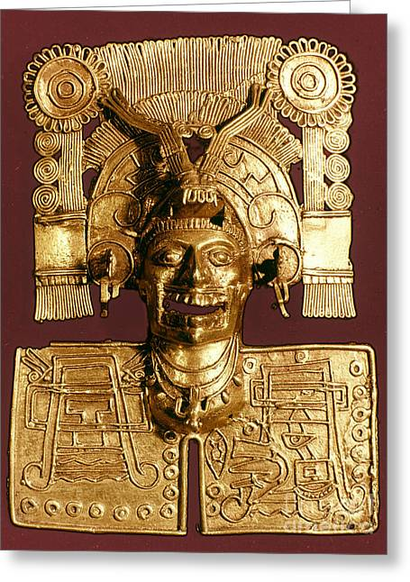 Gold Jewelry Greeting Cards - Mixtec: God Of The Dead Greeting Card by Granger