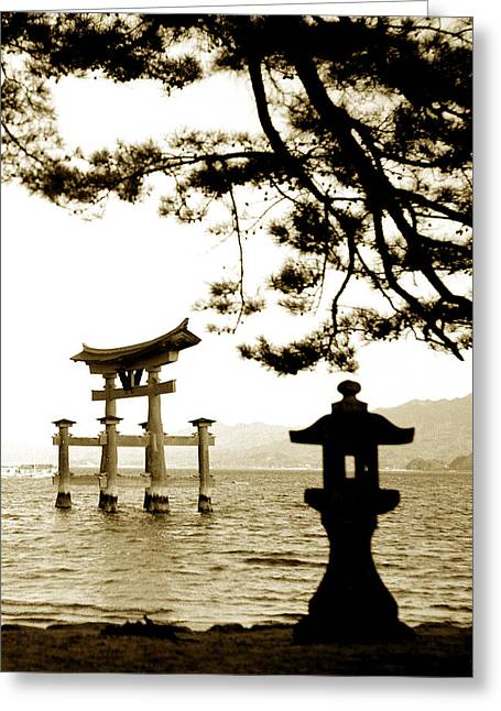 Miyajima Greeting Cards - Miyajima Island Greeting Card by Don Wolf