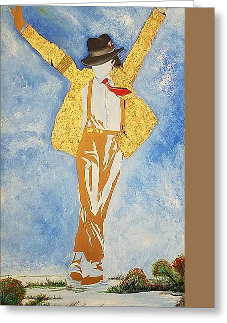Mj Abstract Greeting Card by Dr Frederick Glover