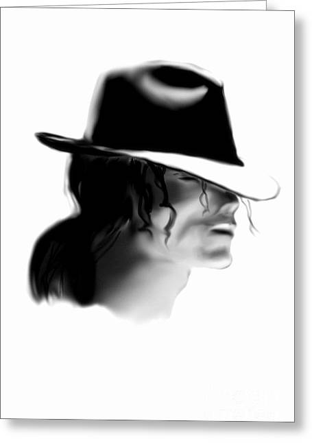 Mj Digital Greeting Cards - Mj Greeting Card by Alan Jose
