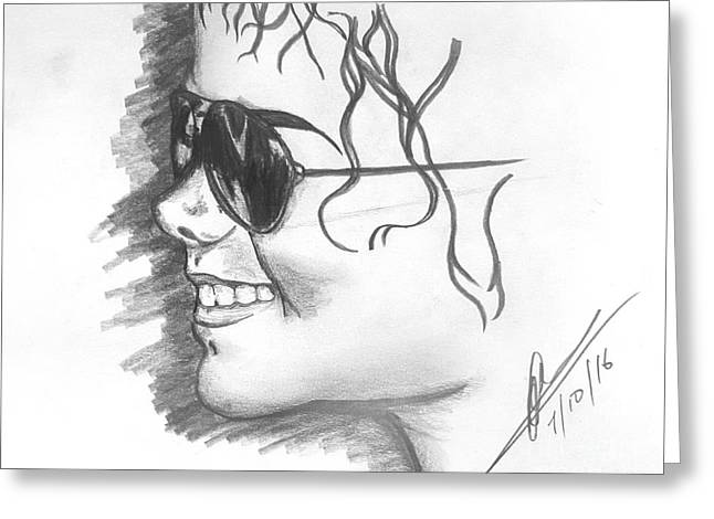 MJ Greeting Card by Collin A Clarke
