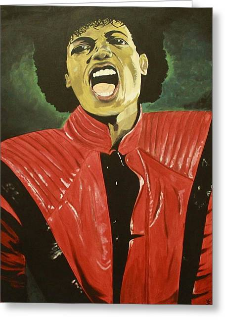 MJ Greeting Card by Lakeisha Phillips