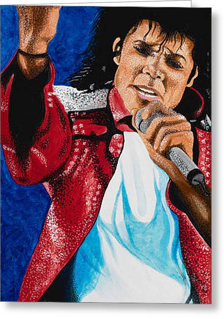 Mj Greeting Cards - MJ Live Greeting Card by Dino Murphy