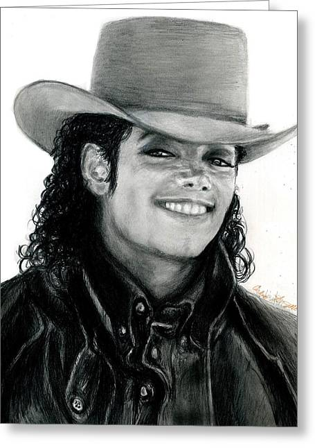 Mj Drawings Greeting Cards - MJ Ranch Style Greeting Card by Carliss Mora