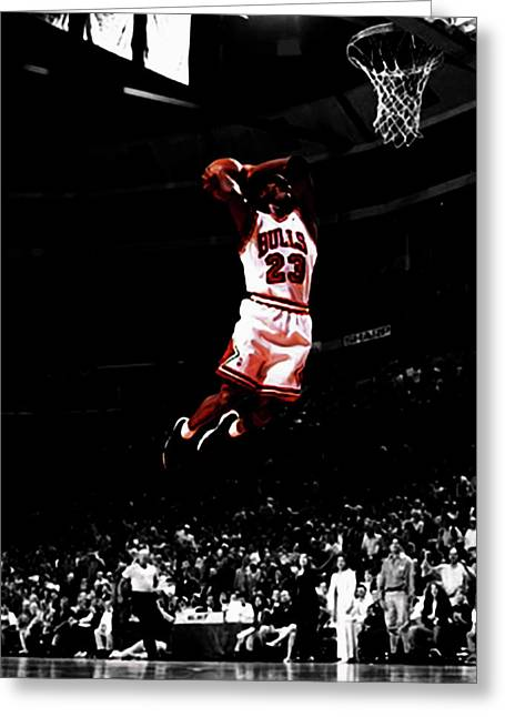 Mj Rises Greeting Card by Brian Reaves