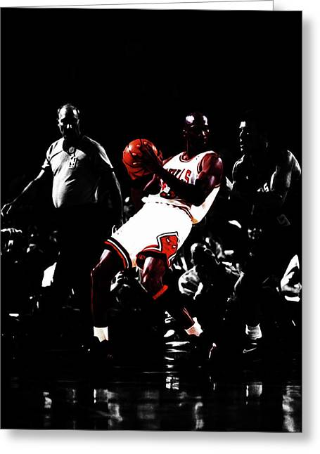 Mj School Time Greeting Card by Brian Reaves