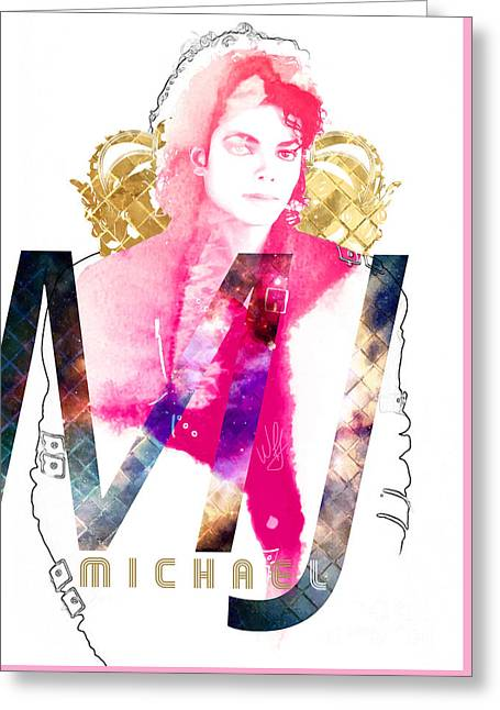 MJ Greeting Card by Wagner Povoa