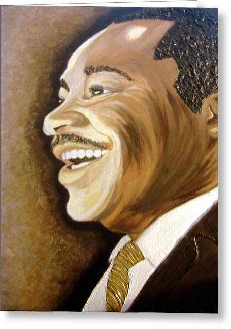 Keenya Woods Mixed Media Greeting Cards - MLK Smiles 2 Greeting Card by Keenya  Woods