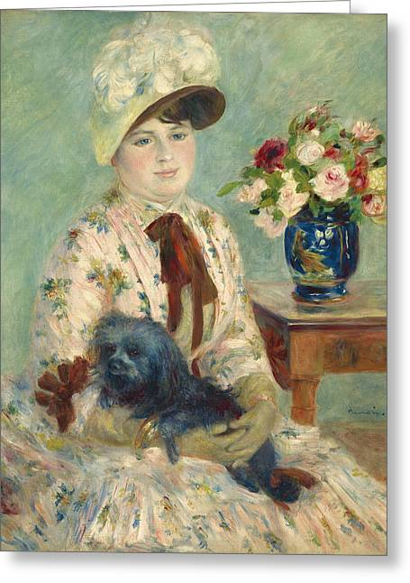 Famous Artist Greeting Cards - Mlle Charlotte Berthier Greeting Card by Auguste Renoir