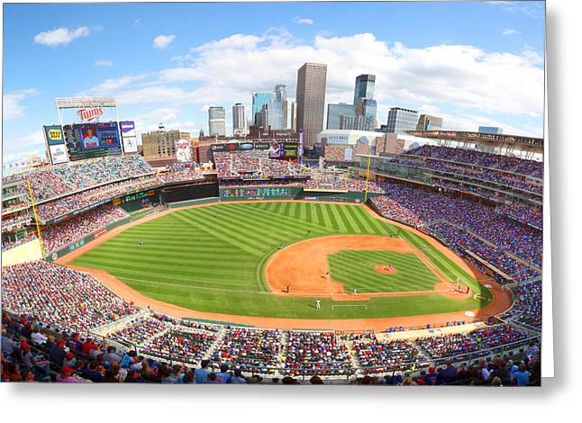 Twins Baseball Greeting Cards - MN Twins Target Field Greeting Card by Michael Klement