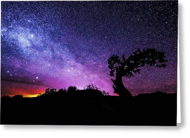 Exposure Greeting Cards - Moab Skies Greeting Card by Chad Dutson