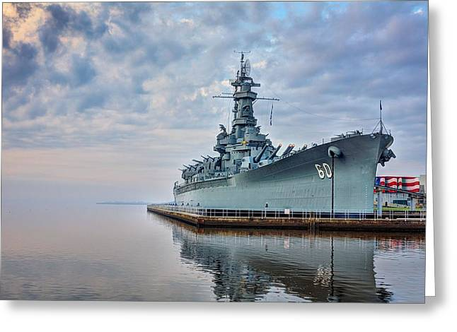 Mobile Greeting Cards - Mobile Bay and the USS Alabama Greeting Card by JC Findley