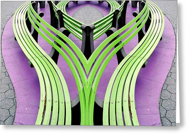 Mobius Bench Greeting Card by Jim DeLillo