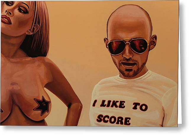 Moby Painting Greeting Card by Paul Meijering