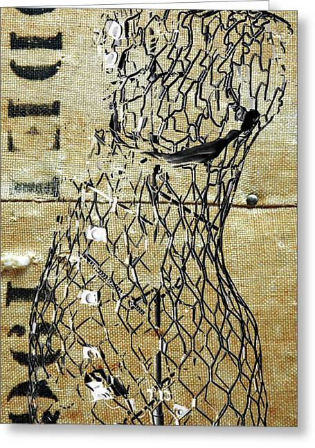 Abstracto Greeting Cards - Model 1961 - Vintage Fashion Mannequin Greeting Card by Anahi DeCanio - ArtyZen Studios