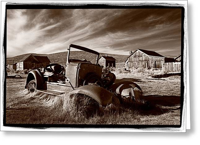 Abandoned Cars Greeting Cards - Model A Bodie Greeting Card by Steve Gadomski