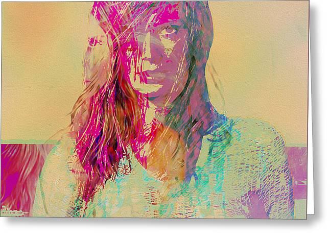 Model Icons - Heidi Klum I Greeting Card by Joost Hogervorst