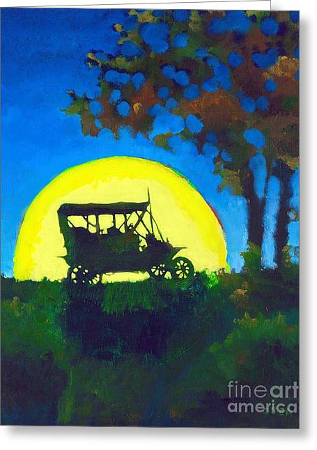 Ford Model T Car Greeting Cards - Model T Greeting Card by Cheryl Emerson Adams