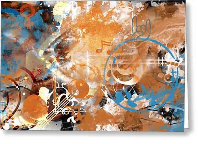 Abstract Style Greeting Cards - MODERN ART Beyond Control Greeting Card by Melanie Viola
