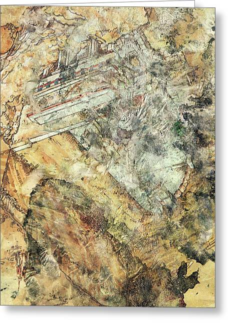 Modern Art - Hidden In Granite - Sharon Cummings Greeting Card by Sharon Cummings
