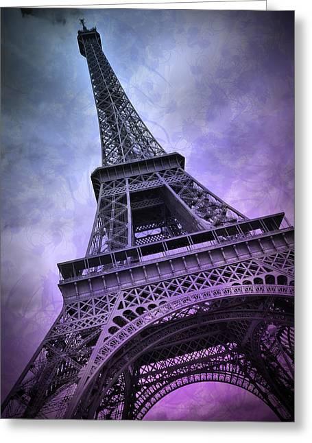 Modern Art Paris Eiffel Tower  Greeting Card by Melanie Viola