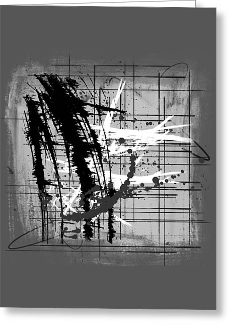 Modern Black And White 2 Greeting Card by Melissa Smith