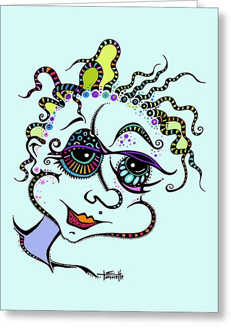 Spunky Greeting Cards - Modern Day Medusa Greeting Card by Tanielle Childers