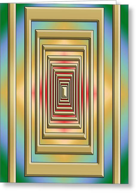 Modern Designs Vertical 3 - Chuck Staley Greeting Card by Chuck Staley