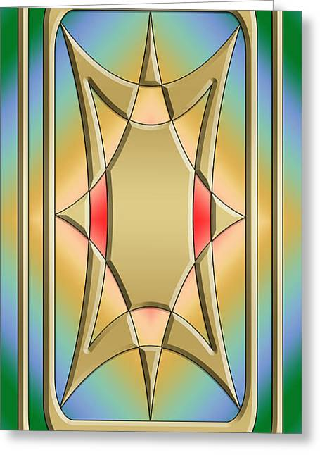 Modern Designs Vertical 4 - Chuck Staley Greeting Card by Chuck Staley