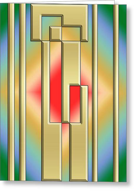 Modern Designs Vertical - Chuck Staley Greeting Card by Chuck Staley