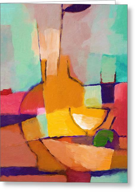 Abstract Food Greeting Cards - Modern Dining Greeting Card by Lutz Baar