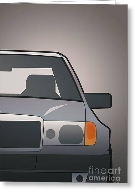 Modern Euro Icons Series Mercedes Benz W124 500e Split  Greeting Card by Monkey Crisis On Mars