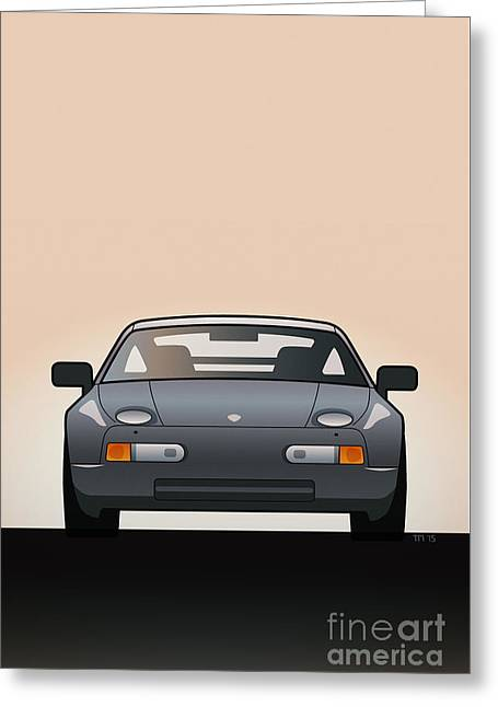 Modern Euro Icons Series Porsche 928 Gts Greeting Card by Monkey Crisis On Mars