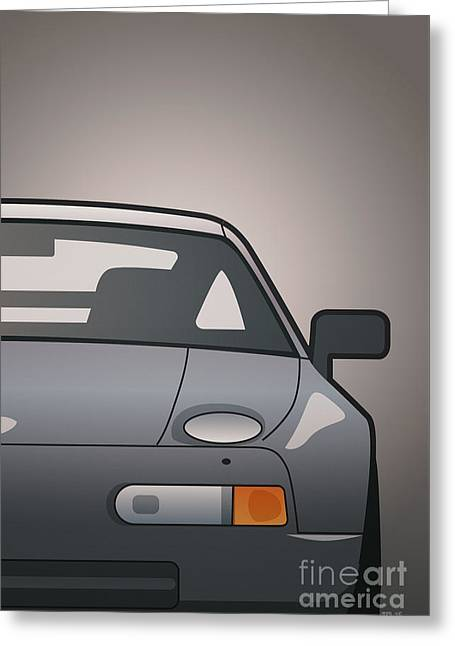 Modern Euro Icons Series Porsche 928 Gts Split Greeting Card by Monkey Crisis On Mars