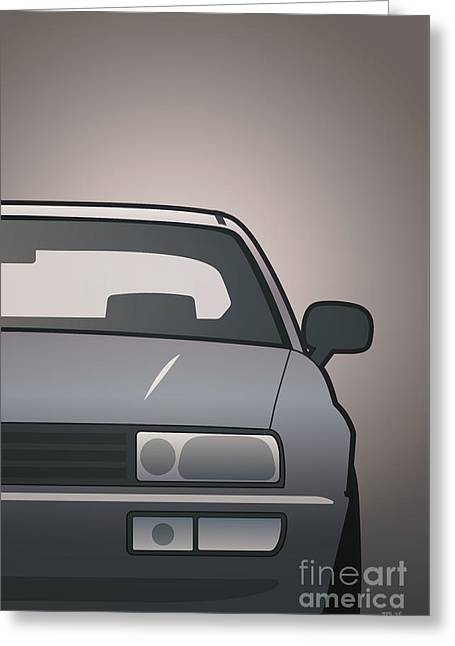 Modern Euro Icons Series Vw Corrado Vr6 Greeting Card by Monkey Crisis On Mars