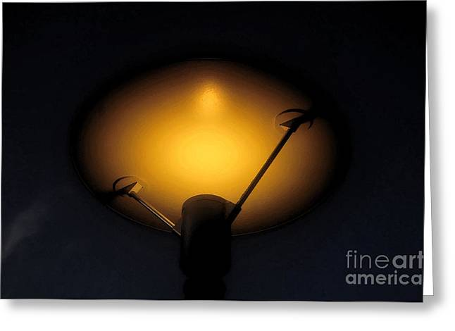Night Lamp Greeting Cards - Modern lamp Greeting Card by David Lee Thompson