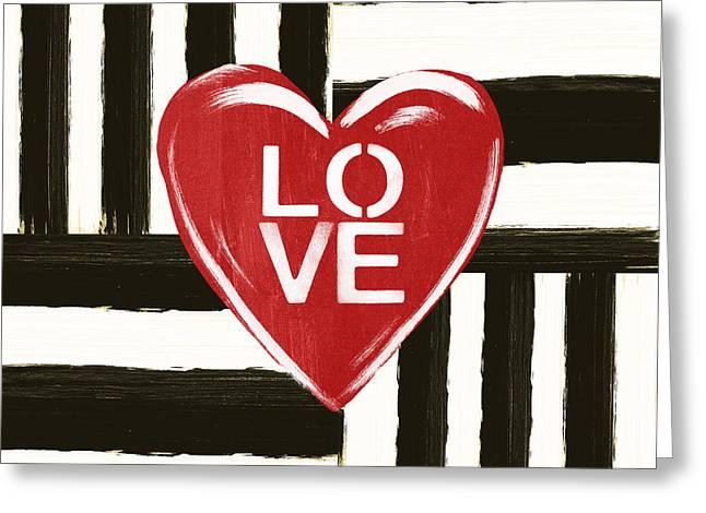 Modern Love- Art By Linda Woods Greeting Card by Linda Woods